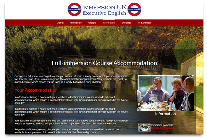 Immersion UK - Full immersion English